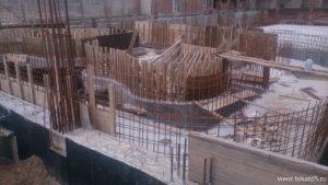 Строительство бассейна. 2015 г.