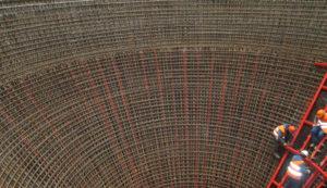 Армирование силосных банок. Каспийский завод листового стекла 2013 год