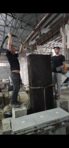 Заливка пенобетона плотностью 220 кг/м3 в опалубку высотой 200 см